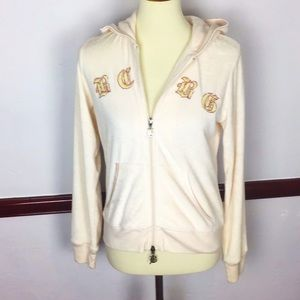 BCBGMAXAZRIA VELOUR JACKET EMBROIDERED WITH BLING